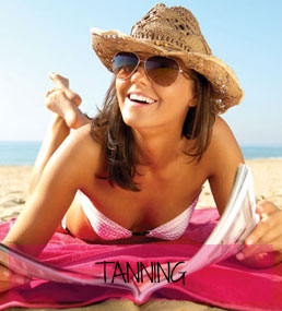 Tanning at Sparx Beauty Salon, Winchester