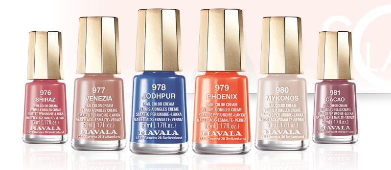 Solaris nail colours at Sparx Winchester Beauty Salon