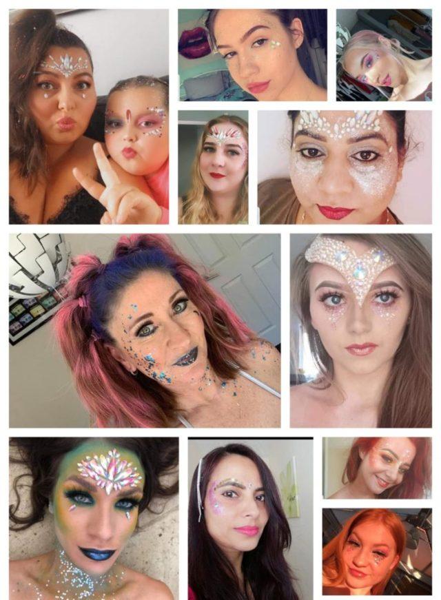 Sparx Festival Makeup Collage