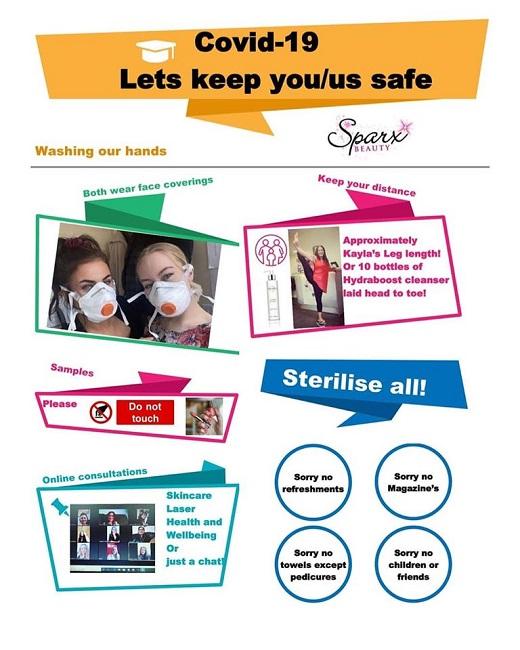 Covid 19 Safety Sparx Beauty Salon Winchester