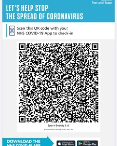 Test and Trace QR code Sparx Winchester
